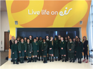 The 5th Year LCVP class visit to the offices of EIR on March 14th.