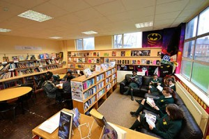 Students studying in our school library.
