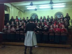 Loreto Crumlin Choir singing Christmas tunes