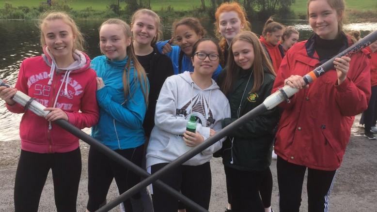 Crumlin's participants at the 'Learn to Row' regatta in Island Bridge.