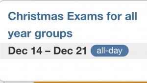 Permalink to:Christmas Exams Timetables
