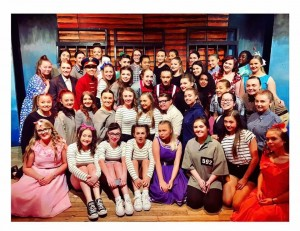 """The cast of """"All Shook Up"""" on their final night."""