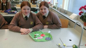 A plant cell made by Kelsey Redmond (1 Vivaldi) and Shannon Redmond (1 Beethoven)