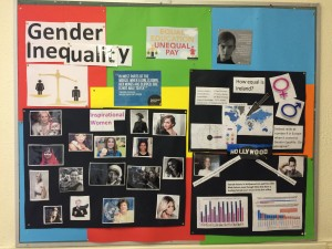 A Gender Inequality display in our front hall.