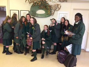 Transition Year students in our front hall.