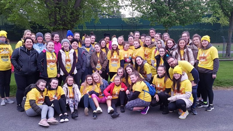 Our Darkness Into Light participants following their walk on Friday 6th.