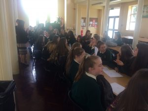 Students eagerly awaiting their results.