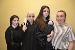 5th Year students dressed as The Addams Family