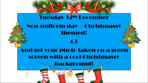 Permalink to:Non-Uniform Day – Tuesday 12th December