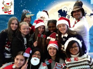 Students posing in their festive atire.