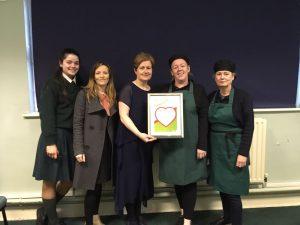 Presentation of the Irish heart Foundation's healthy heart Award.