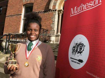 Ekenenna Chukwuwuzie with her Oratory Award