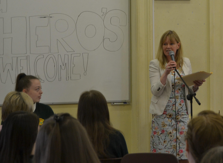 Suzanne Byrne speaking