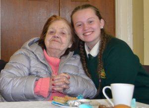 Sara jones with her grandmother