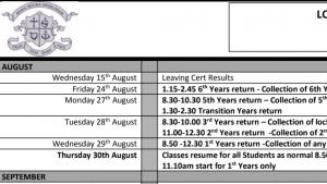 Permalink to:School Calendar 2018-2019