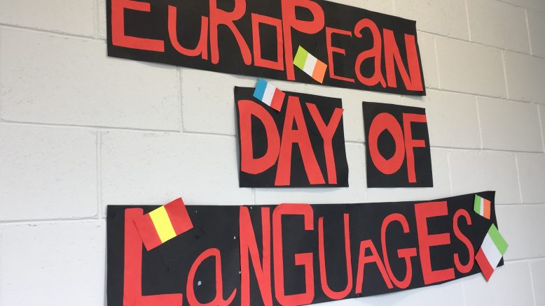 Banner highlighting European Day of Languages 2018