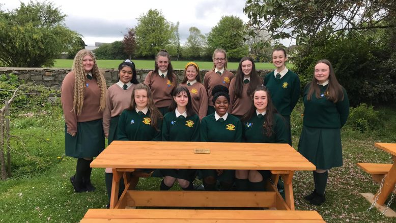 Student Council students whose idea it was to get new picnic tables for their student body.