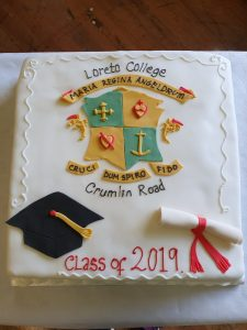 6th Year Graduation Cake courtesy of Glanmore Foods