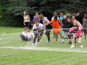 Students line up for the 3rd year obstacle course