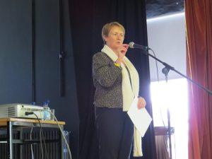 Elma Walsh addressing our school community.