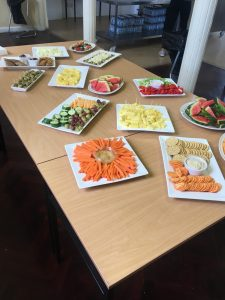 Healthy food during wellbeing week