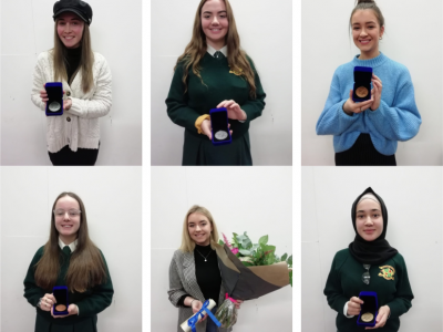 Awards winners Lauren Foley, Siofra Kildee-Doolan, Ciara White, Robyn Kinsella, Renee Campbell and Aaishah Buzakhar.