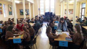 2nd Year Maths Challenge in the Dining Hall