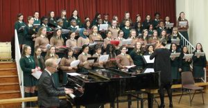 School Choir performing at O Holy Night concert.