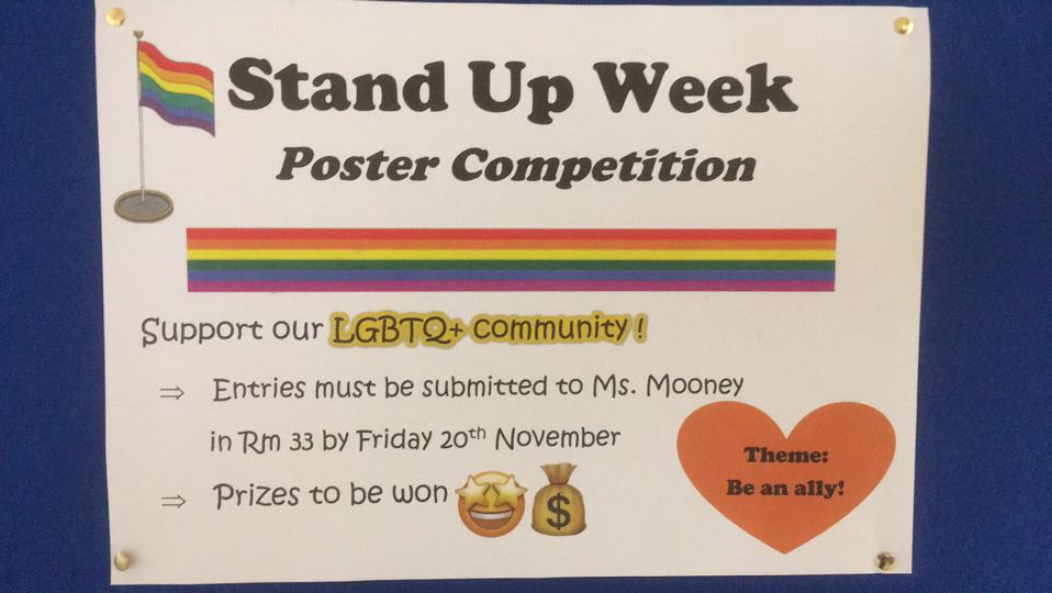Stand Up Poster Competition.