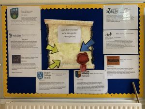 Our College Awareness Week Noticeboard.
