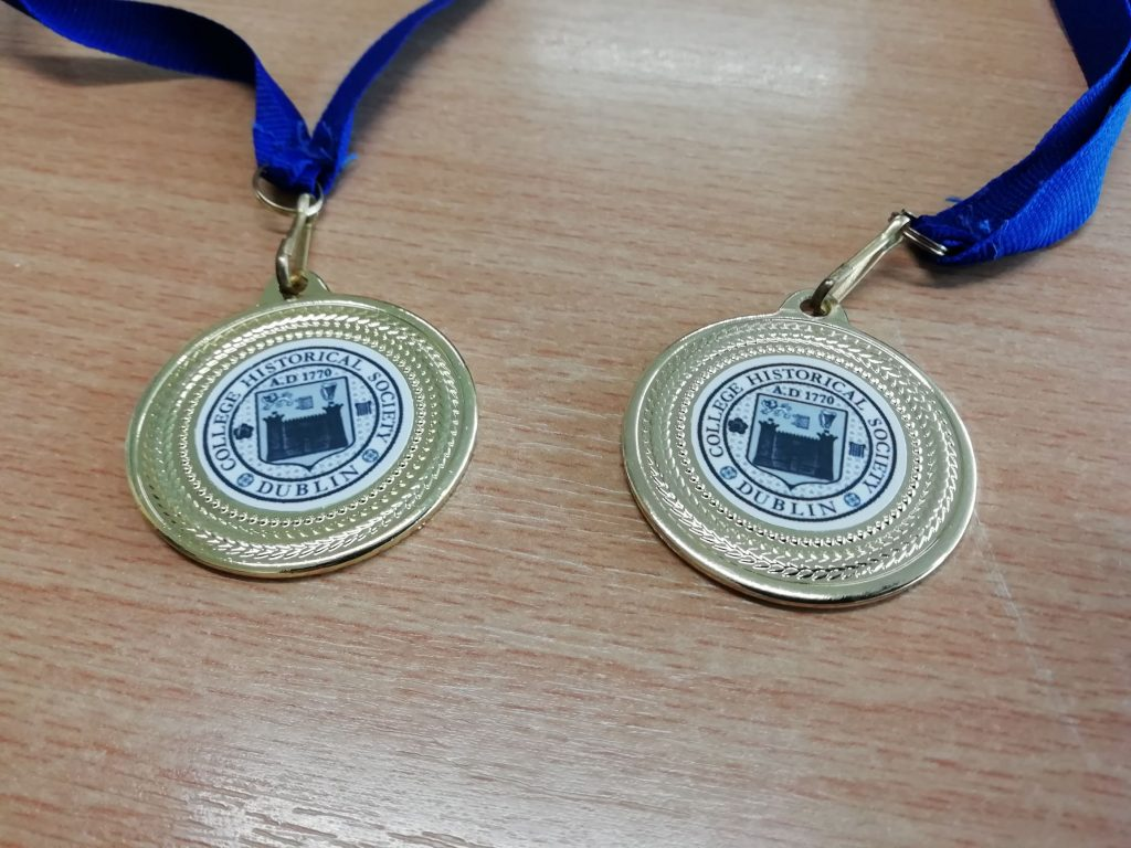 The winning medals