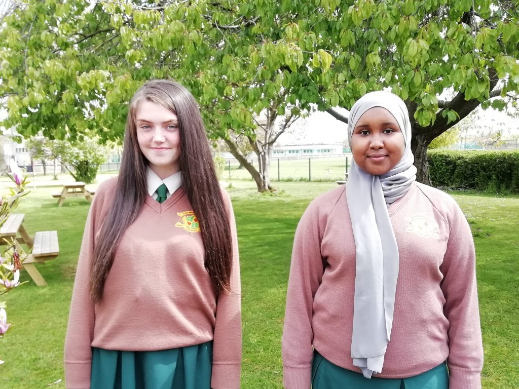 Erin Crowe and Aisha Hassan